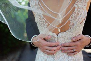 wedding bride and bridesmaid