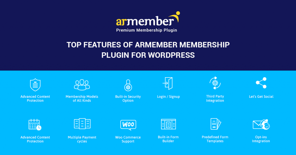 features of ARMember Plugin